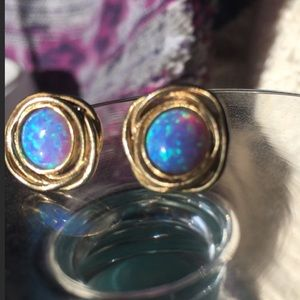 Awesome 925 gold Israel stamped designer earrings